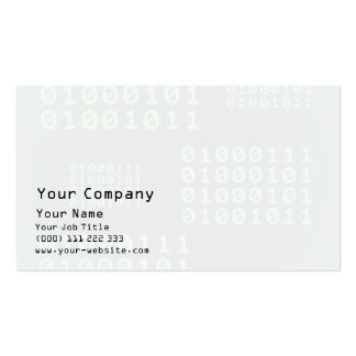 Binary code for GEEK Business Card Templates