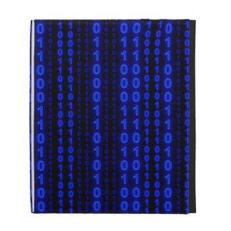 Binary Code Glow Rain iPad Case