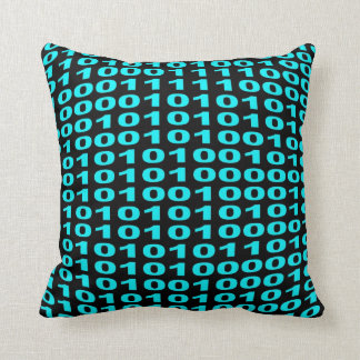 Binary code pillow cushion