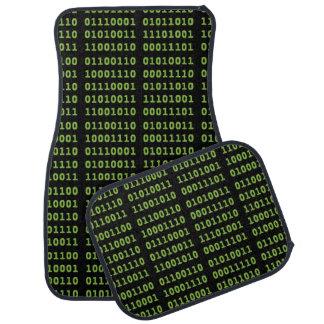 Binary Code with Screen Glow Car Mat