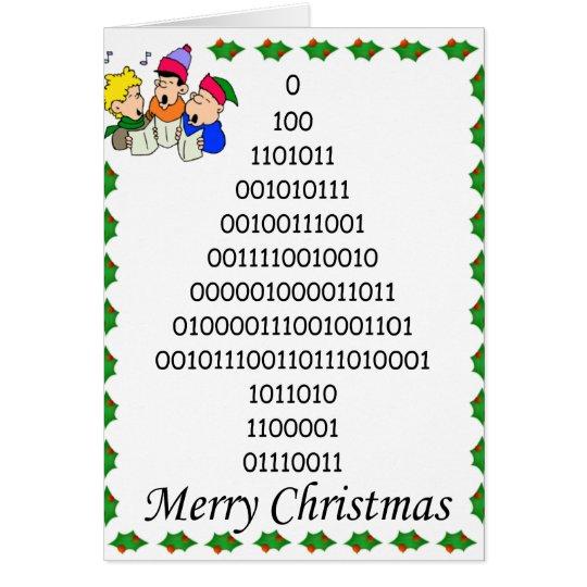 Binary geeks' Christmas tree Card