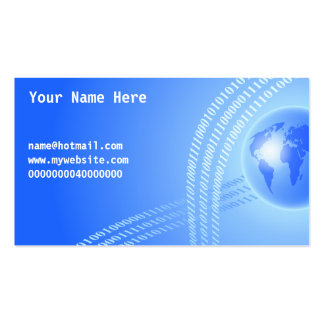 Binary Globe Background, Your Name Here, Business Card Template