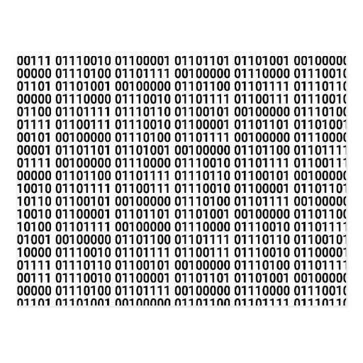 Binary: I Love To Program Post Cards