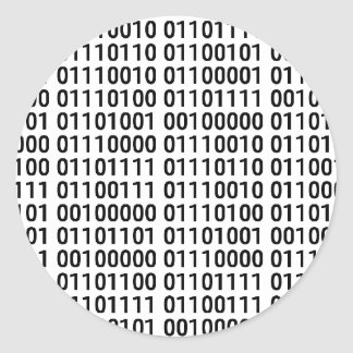 Binary: I Love To Program Round Sticker