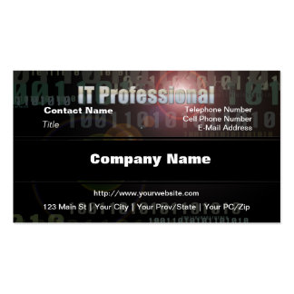 Binary IT Professional Business Card Template