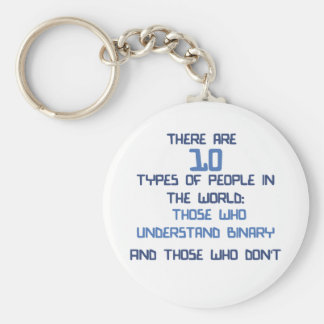 binary joke key ring