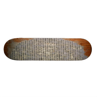 binary on wood 18.1 cm old school skateboard deck