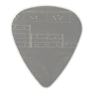 Binary or double stars acetal guitar pick