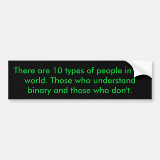 Binary People Bumper Stickers