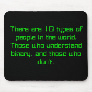Binary People Mouse Pad