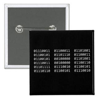 Binary pin