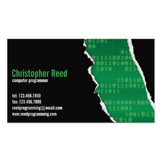Binary Rip - Green Business Card Template