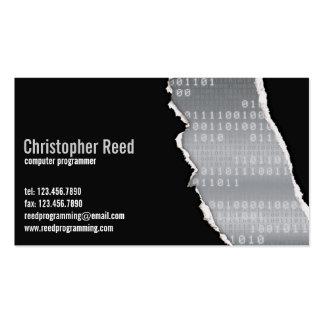 Binary Rip - Grey Business Cards