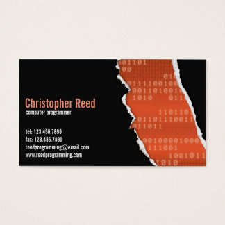 Binary Rip - Orange Business Card