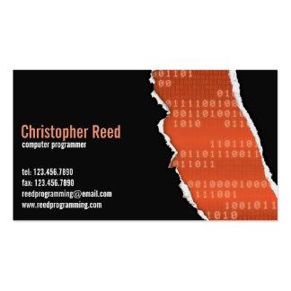 Binary Rip - Orange Business Card Templates