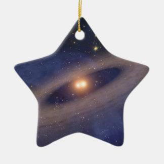 Binary Star Solar System Space Art Christmas Ornament