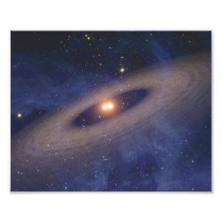 Binary Star Solar System Space Art Photo Print