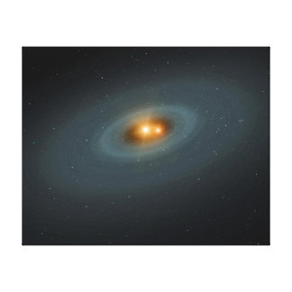 Binary Star Space Art Gallery Wrapped Canvas