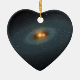 Binary Star Space Art Christmas Ornament
