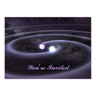 "Binary White Dwarf 5"" X 7"" Invitation Card"