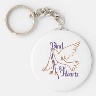 Bind Our Hearts Basic Round Button Key Ring