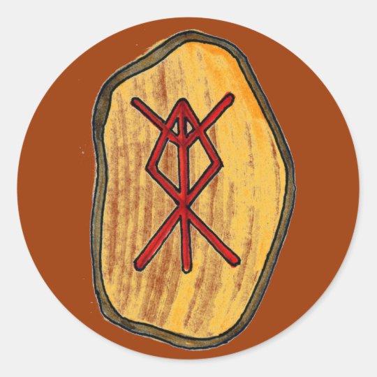 Bind Rune: Home Protection Classic Round Sticker