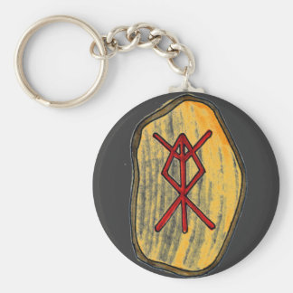 Bind Rune: Home Protection Basic Round Button Key Ring