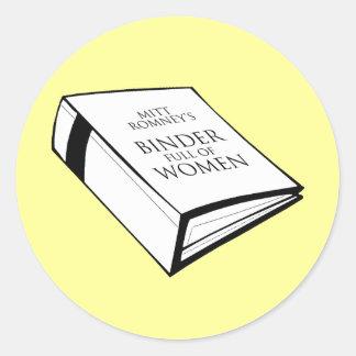BINDER FULL OF WOMEN COSTUME ROUND STICKER