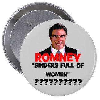 binders full of women 10 cm round badge