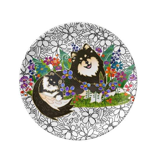 BINDI Finnish Lapphund porcelain art plate 2 size