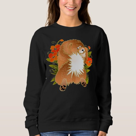 BINDI MINGSIE red chow-FRONT DESIGN-choose style Sweatshirt