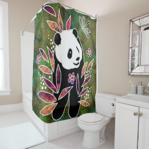 BINDI PANDA Shower Curtain