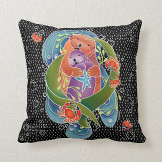 BINDI Sea Otters pillow -choose size and fabric