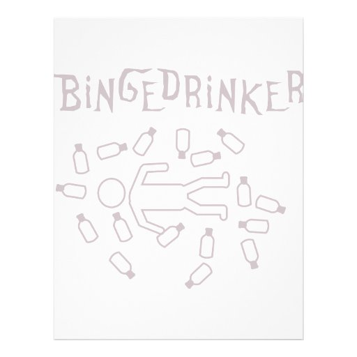 binge drinker icon full color flyer