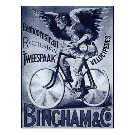 Bingham & Co. Velocipedes Postcard