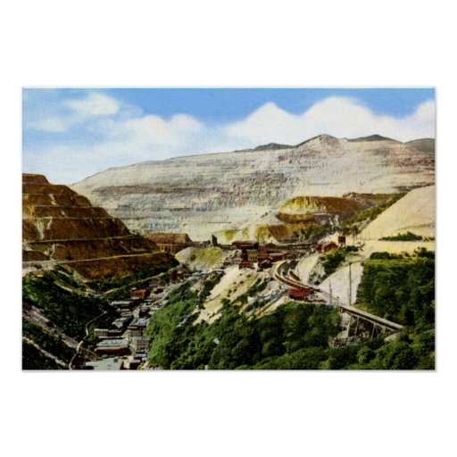 Bingham Utah Bingham Canyon Open Pit Copper Mine Poster