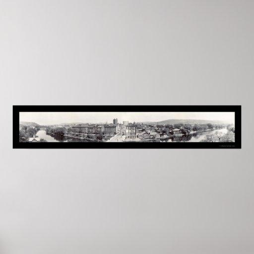 Binghamton, New York Photo 1909 Poster
