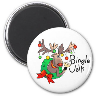 BINGLE JELLS by SHARON SHARPE 6 Cm Round Magnet