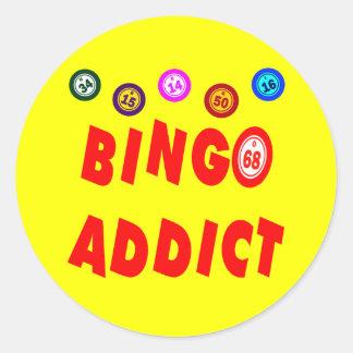 BINGO ADDICT CLASSIC ROUND STICKER