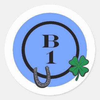 BINGO B1 ROUND STICKER