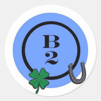 BINGO B2 ROUND STICKER