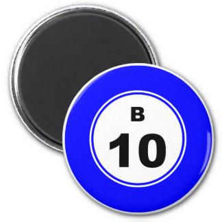 Bingo Ball B 6 Cm Round Magnet