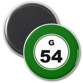 Bingo Ball G 6 Cm Round Magnet