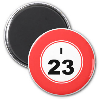 Bingo Ball I 6 Cm Round Magnet