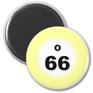 Bingo Ball O 6 Cm Round Magnet