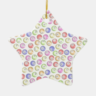 Bingo Balls Ceramic Star Decoration