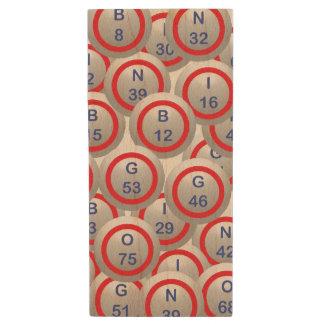 Bingo Balls Wood USB 2.0 Flash Drive