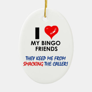 BINGO! Bingo designs for the fabulous player! Ceramic Oval Decoration