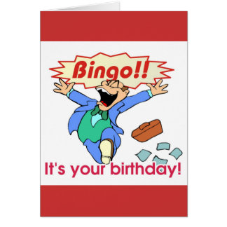 Bingo birthday card