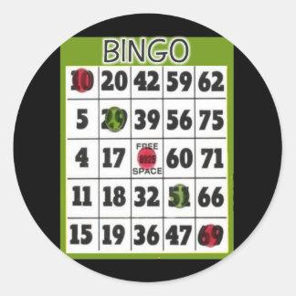 Bingo Card Classic Round Sticker